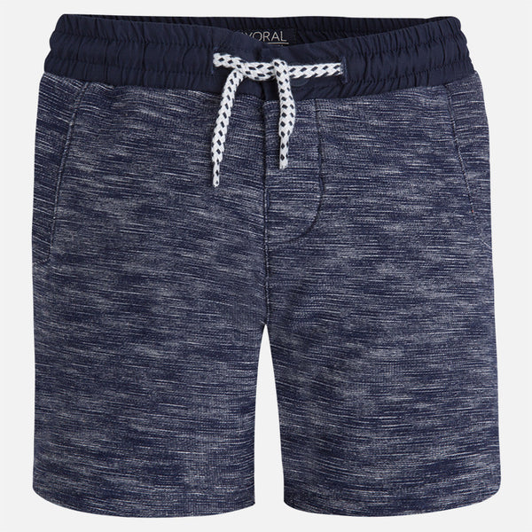 SS17 Mayoral Boys Navy Fantasy Knitted Shorts 3243
