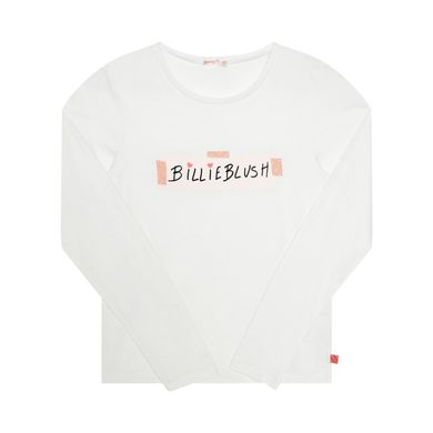 AW20 Billieblush Girls Ivory Logo Top