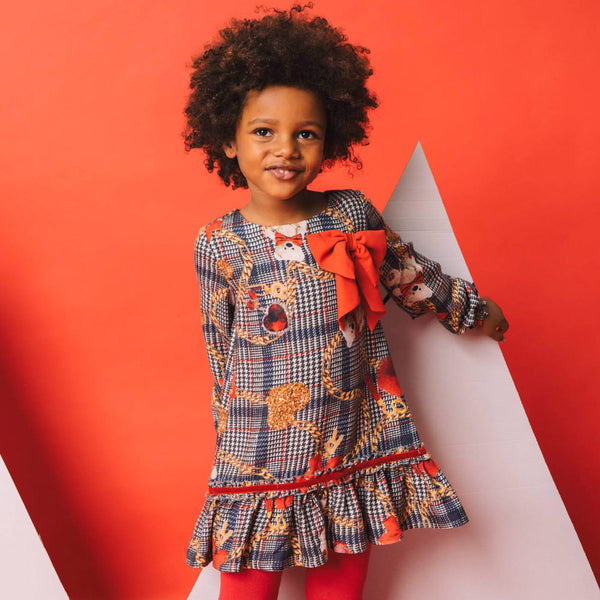 AW20 Rosalita Girls Escobita Red Bow Dress