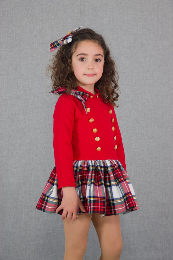 AW18 Naxos Girls Red Tartan Dress