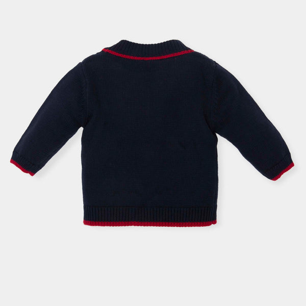 AW18 Tutto Piccolo Boys Navy Blue Cardigan 5632