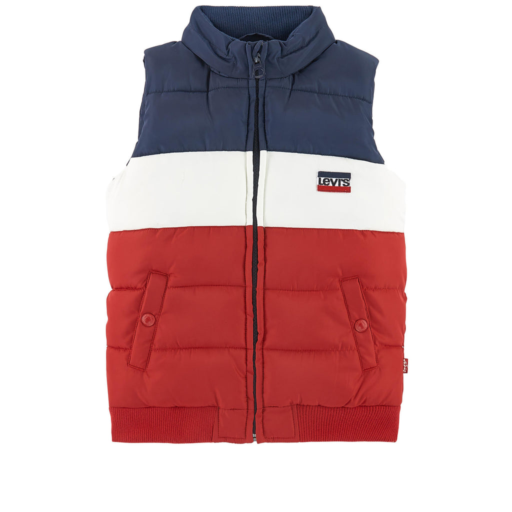 AW18 Levi's Boys Red, White & Blue Gilet 4-16 Years