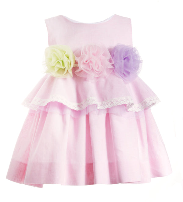 SS19 Naxos Girls Pink Tulle Flower Dress