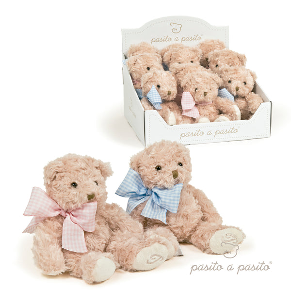 Pasito a Pasito Blue Bow Rattle Teddy Bear