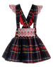 AW19 Naxos Girls Tartan Pinafore Set