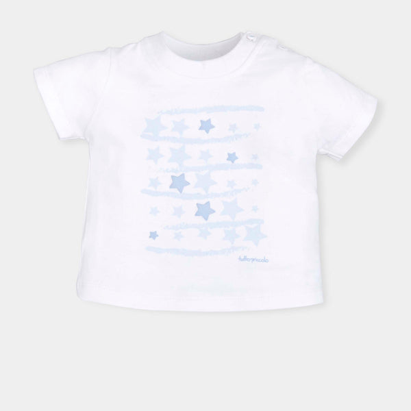 SS19 Tutto Piccolo Boys White & Blue Stars T-Shirt 6611