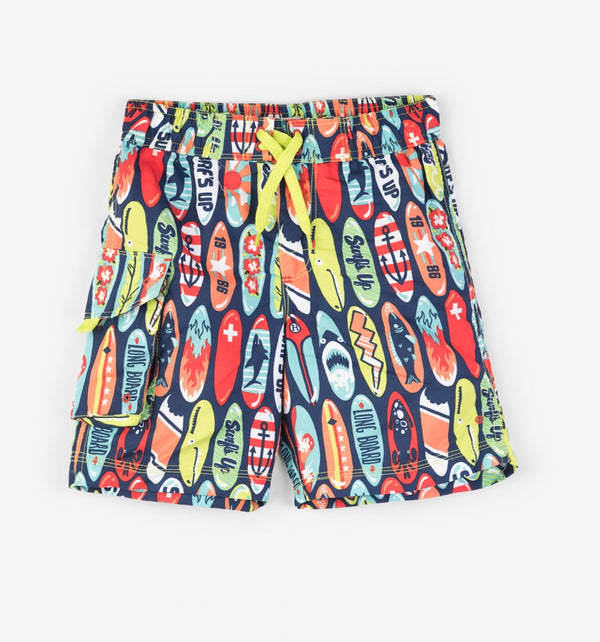 SS18 Hatley Boys Surfboard Swimming Shorts