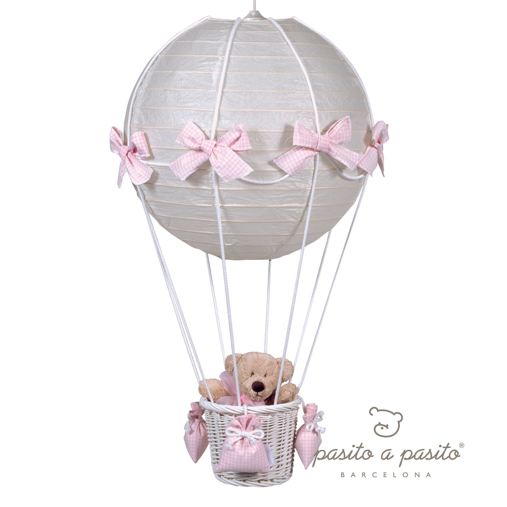 Pasito a Pasito Pink Bows Hot Air Balloon Ceiling Lamp Shade