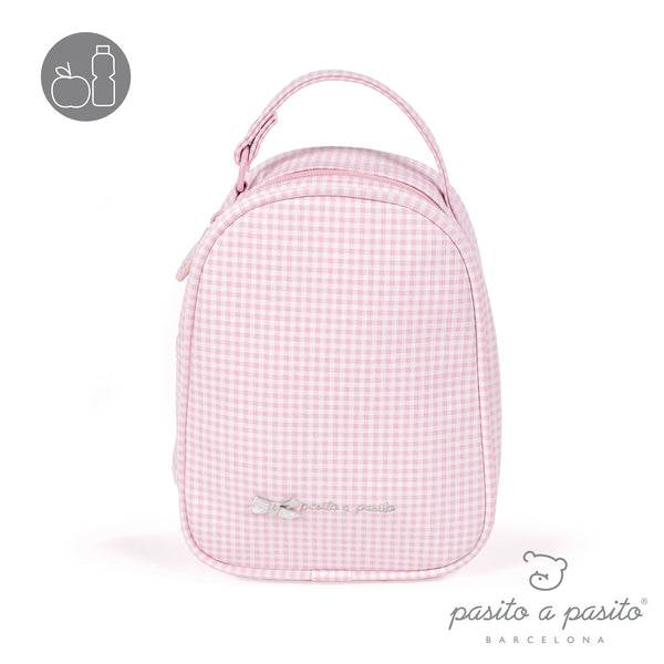 Pasito a Pasito Petite Etoile Pink Check Lunch Bag