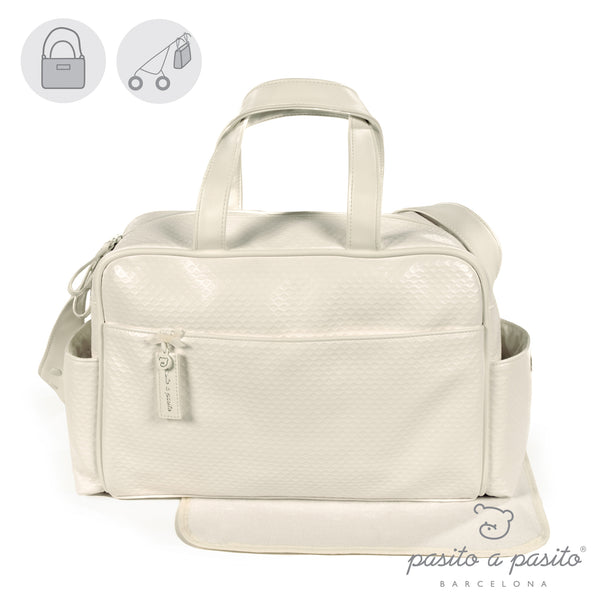 Pasito a Pasito New Cotton Cream Changing Bag