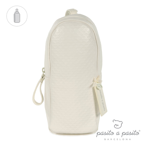 Pasito a Pasito New Cotton Cream Insulated Bottle Bag
