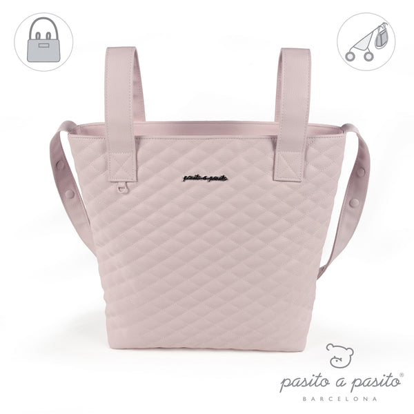 Pasito a Pasito Pink Quilted Pram Bag