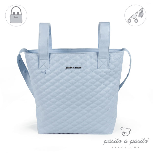 Pasito a Pasito Blue Quilted Pram Bag