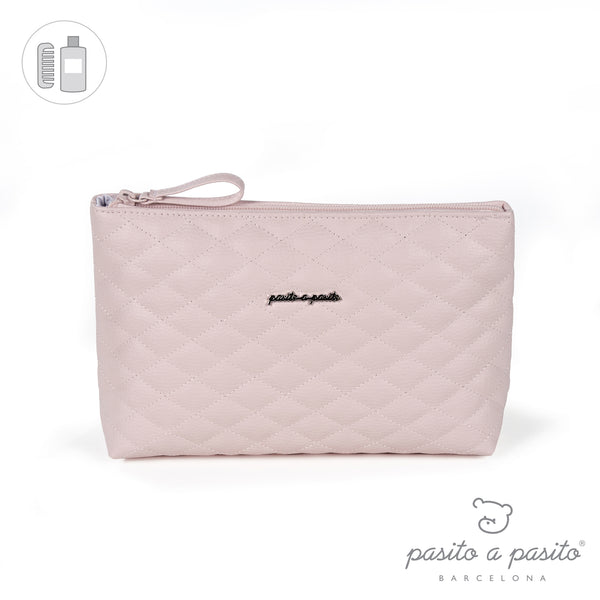 Pasito a Pasito Pink Quilted Toiletry Bag
