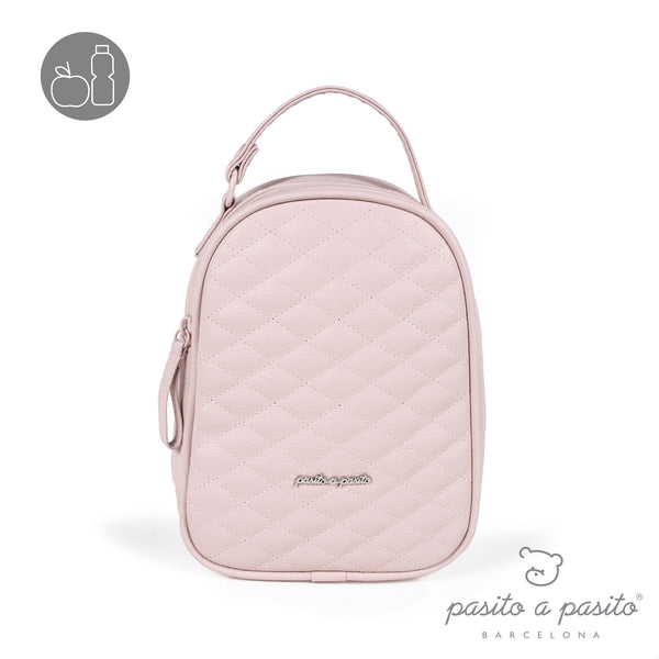Pasito a Pasito Ines Pink Quilted Lunch Bag
