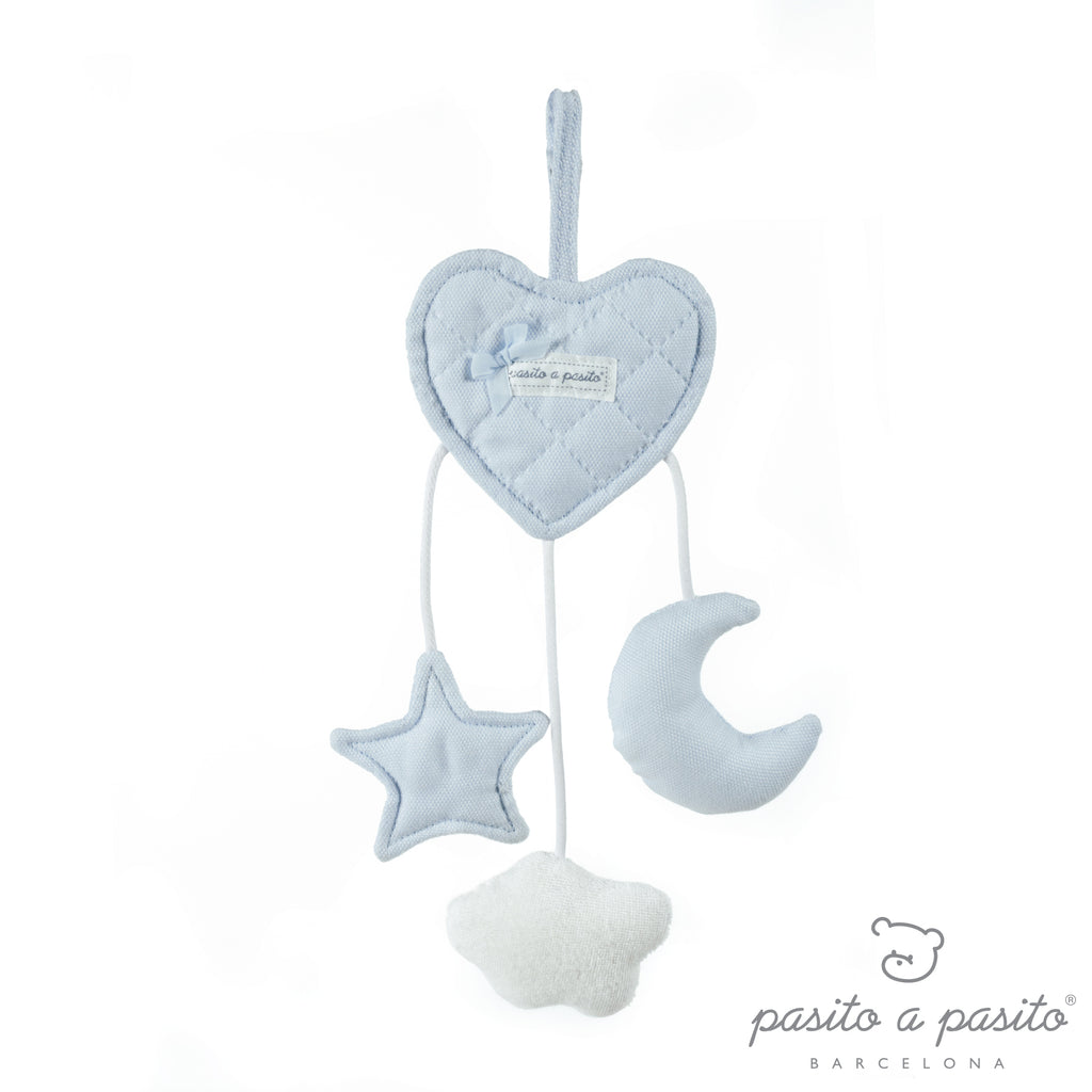 Pasito a Pasito Oxford Blue Heart Rattle