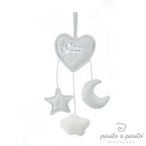 Pasito a Pasito Oxford Grey Heart Rattle