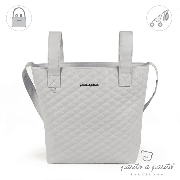 Pasito a Pasito Grey Quilted Pram Bag
