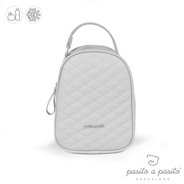 Pasito a Pasito Ines Grey Quilted Lunch Bag