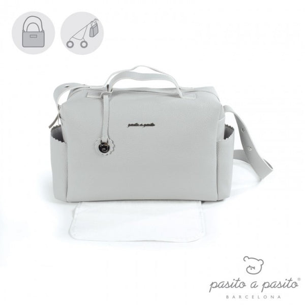 Pasito a Pasito Grey Biscuit Changing Bag