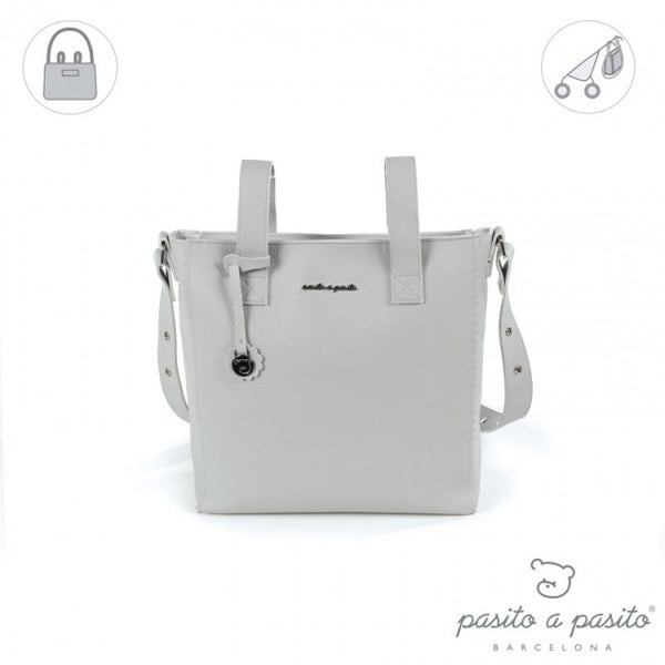 Pasito a Pasito Grey Biscuit Pram Bag