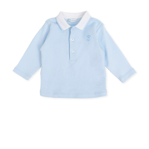 AW19 Tutto Piccolo Boys Baby Blue Polo Top 7512