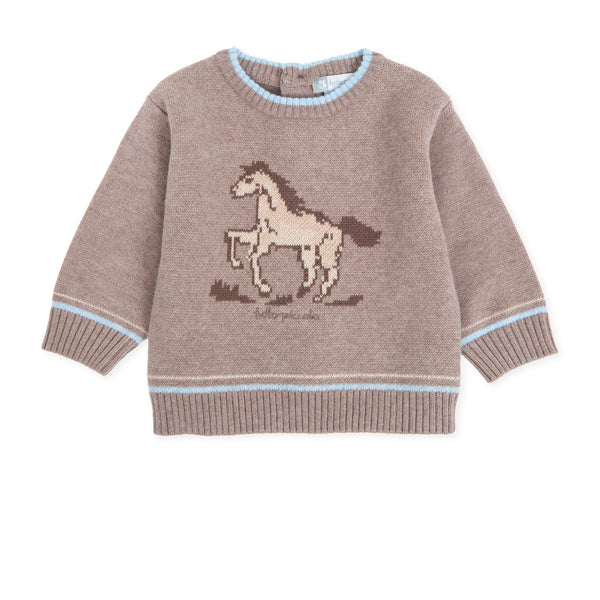 AW19 Tutto Piccolo Boys Knitted Horse Design Jumper 7817