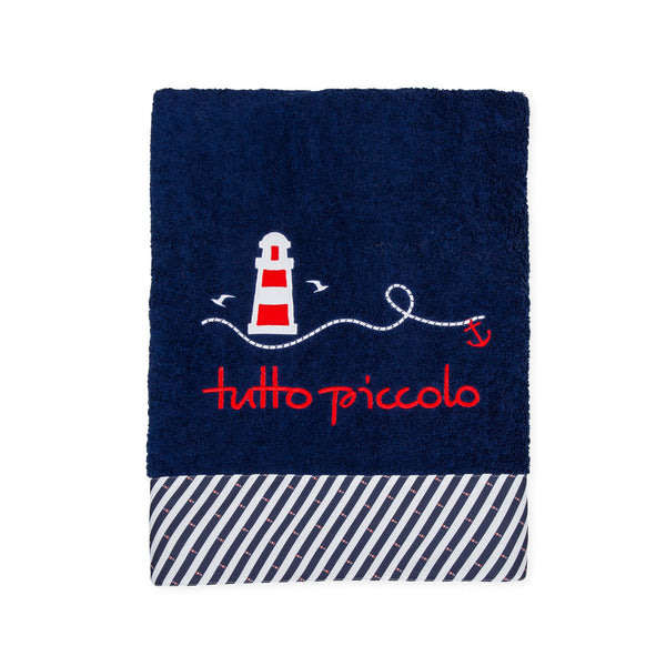 SS20 Tutto Piccolo Navy Blue & White Beach Towel 8553