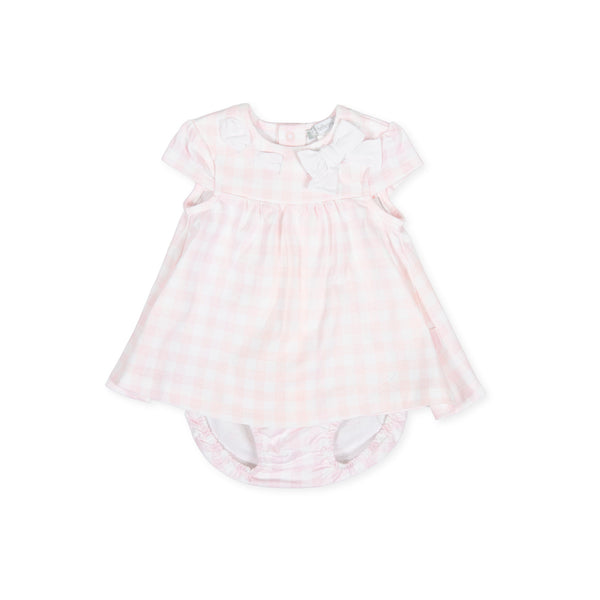 SS20 Tutto Piccolo Baby Girls Pink & White Check Dress 8782