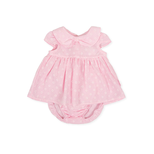 SS20 Tutto Piccolo Baby Girls Pink Daisy Dress & Knickers Set 8784