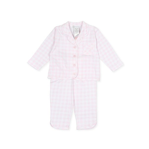 SS20 Tutto Piccolo Girls Pink & White Check Pyjama Set 8882