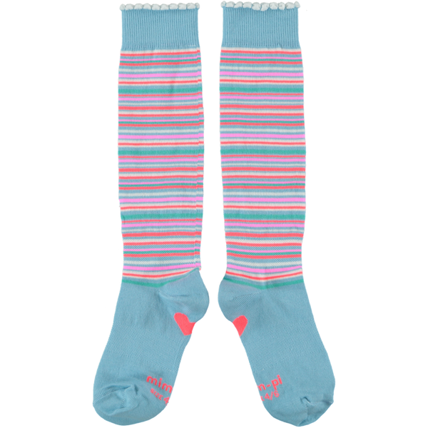 SS18 Mim-Pi Multi-Colour Stripe Socks 914