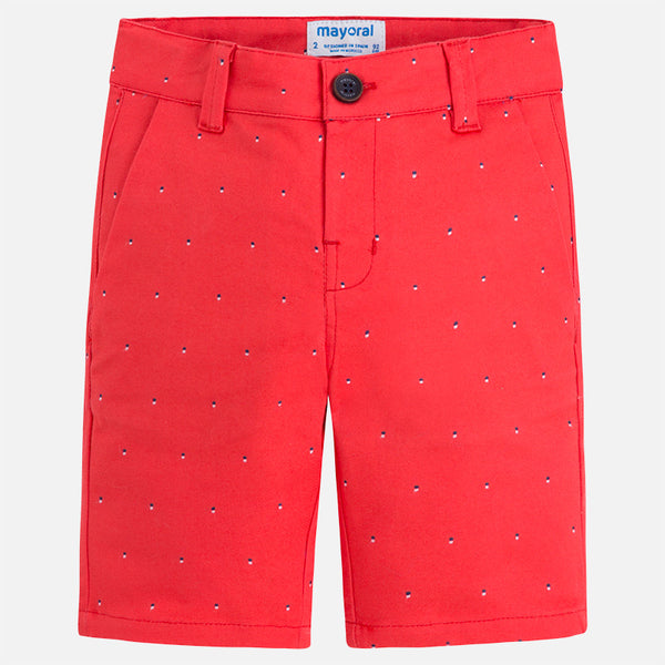 SS18 Mayoral Boys Red Cotton Shorts 3258