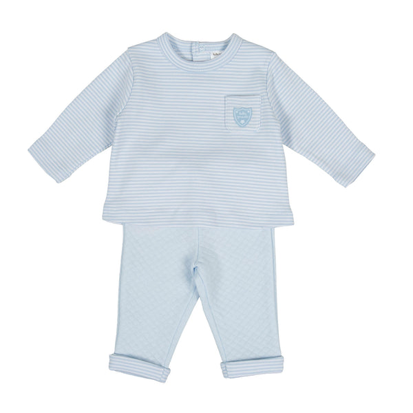AW20 Tutto Piccolo Baby Boys Blue & White Striped Set 9585