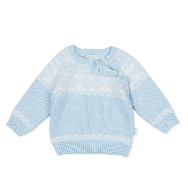 AW20 Tutto Piccolo Boys Blue Knitted Jumper 9818