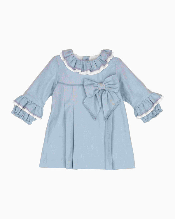 AW18 Tartaleta Girls Blue Bow Dress