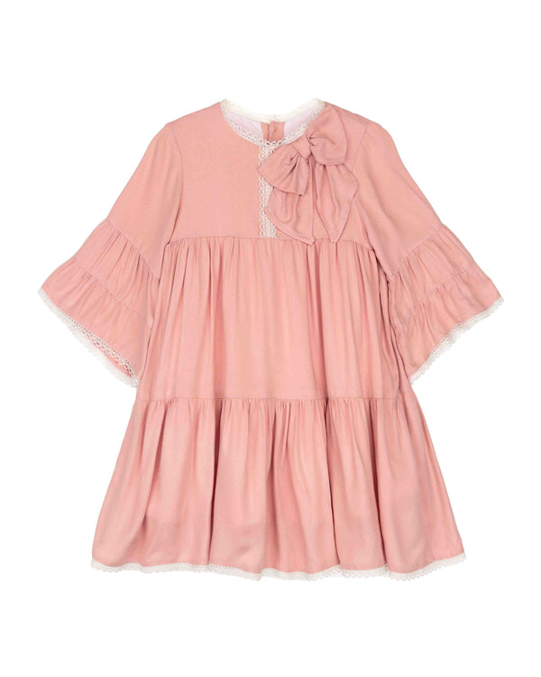 AW18 Tartaleta Girls Pink Bow Dress