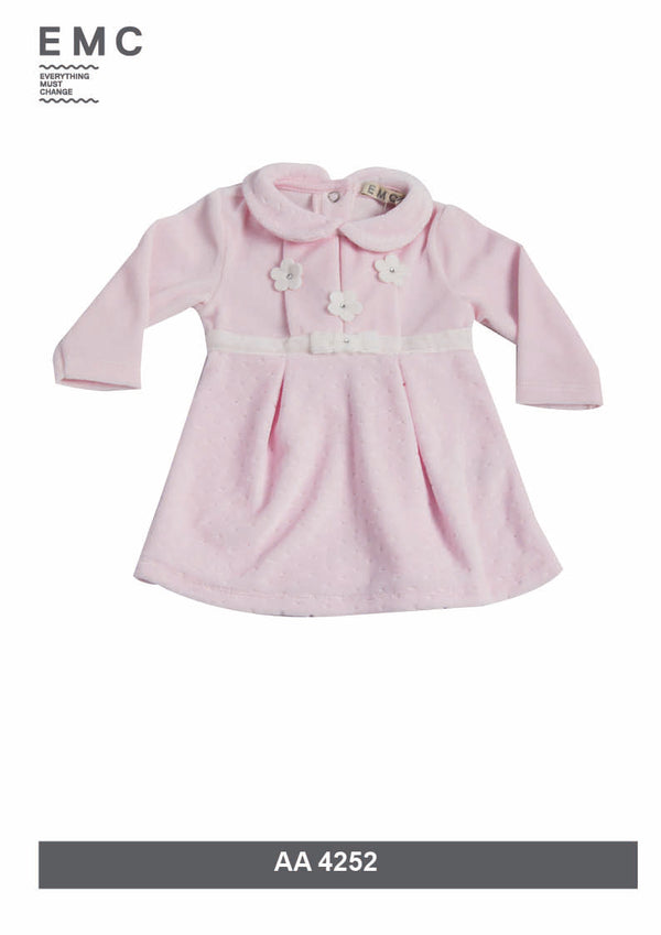 AW18 Everything Must Change Baby Girls Pink Velour Dress