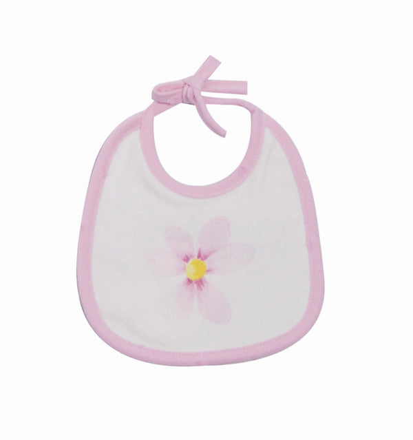 SS18 EMC Baby Girls Pink Flower Bib 4055