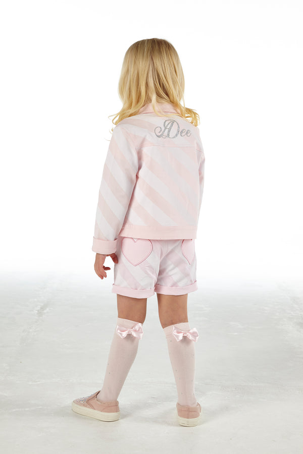 SS21 A Dee Girls Orlagh Ice Cream Pink Denim Jacket