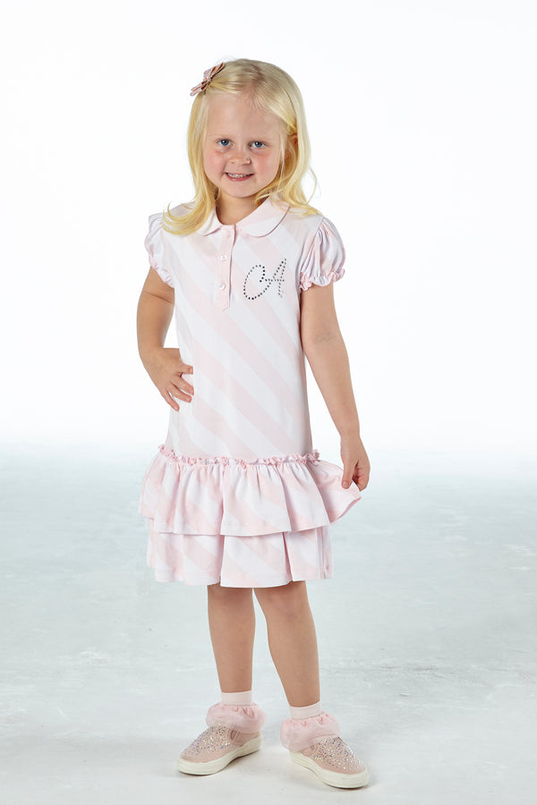 SS21 A Dee Girls Orinthia Ice Cream Pink Tennis Dress