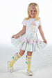 SS21 A Dee Girls Orr Lemon Ribbon Knee High Socks