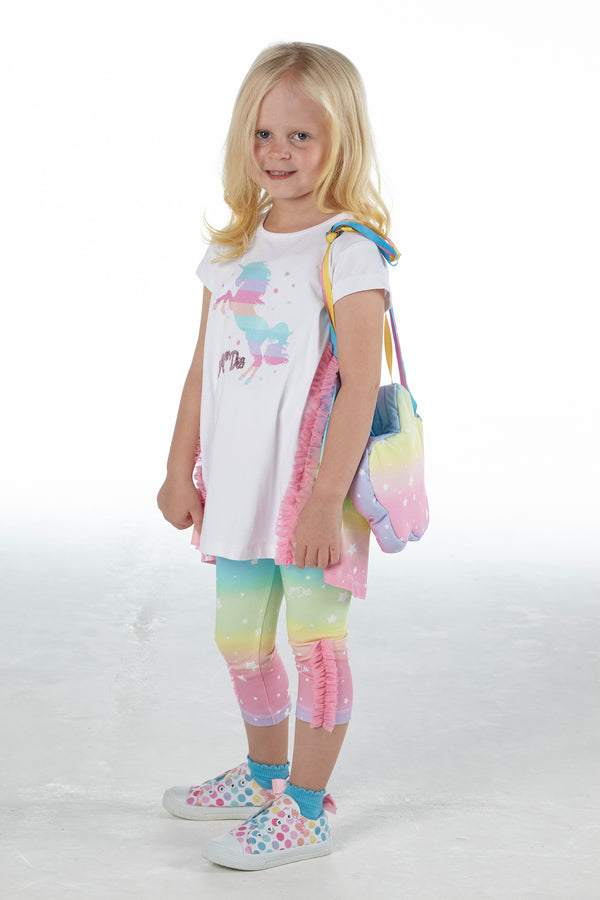 SS21 A Dee Girls Natalia Rainbows & Unicorns Leggings Set
