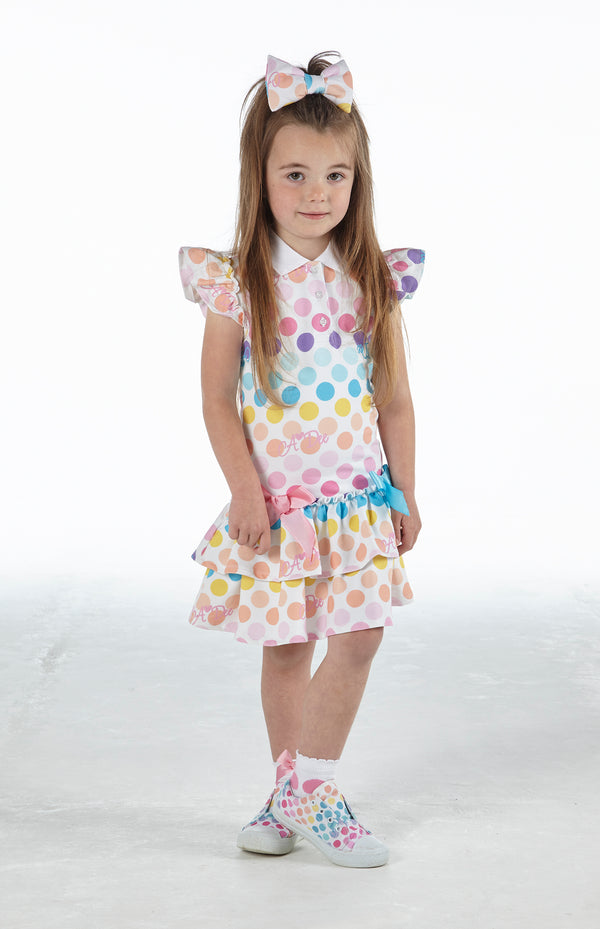 SS21 A Dee Girls Nerys Dotty Tennis Dress