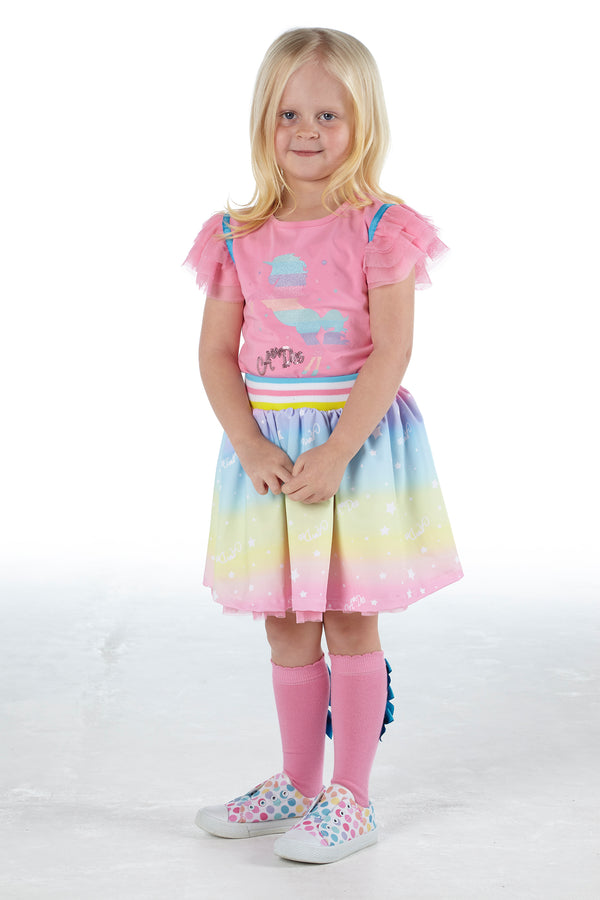 SS21 A Dee Girls Nicky & Noemi Rainbows & Unicorns Skirt Set