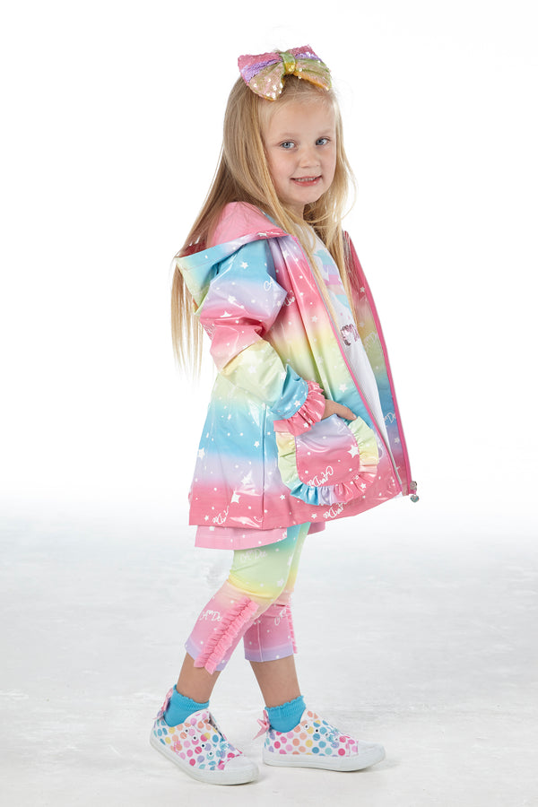 SS21 A Dee Girls Nala Rainbows & Unicorns Raincoat
