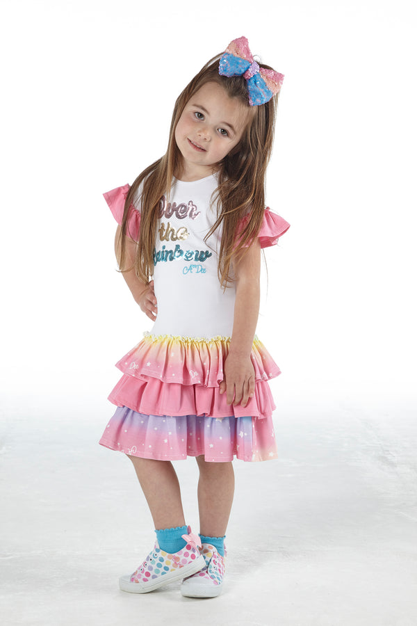 SS21 A Dee Girls Nannette Rainbows & Unicorns Dress