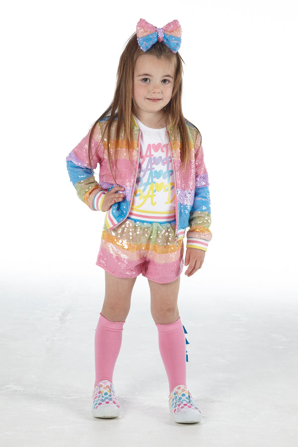SS21 A Dee Girls Nikola Rainbows & Unicorns Sequin Jacket