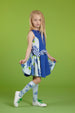 SS18 A*Dee Girls Dale Two-Tone Jersey Dress