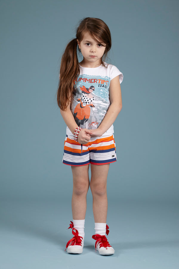 SS18 A*Dee Girls Tina & Sunny Italian Riveria Shorts Set
